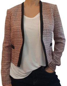 H&M Tweed Crop Pink Multi Blazer