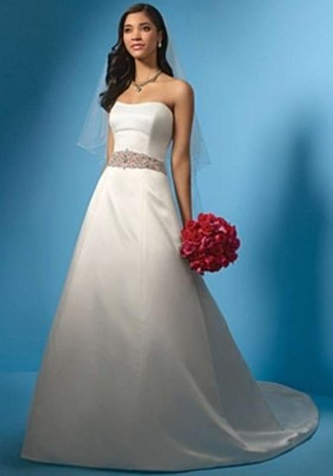 Alfred Angelo Ivory/Dusty Rose 2024 Formal Wedding Dress Size 12 (L ...