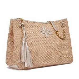 Tory Burch Tote in Natural/Gold