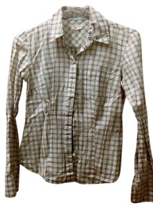 American Eagle Outfitters Country Western Button Down Shirt White
