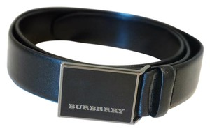 Burberry Plain Leather MOE 30MM Buckle Belt Size 38/95; Made in Italy
