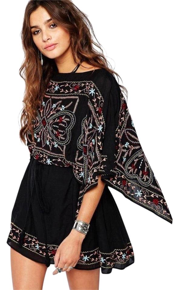 f4d2e8b6c9e Free People short dress Black Embroidered Batiste on Tradesy Image 0 ...