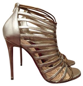 Christian Louboutin Milla Stiletto Strappy gold Pumps