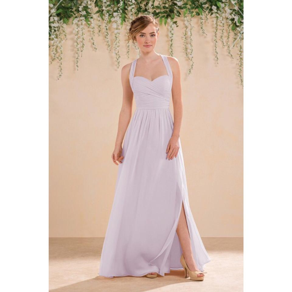 Jasmine Bridal Lavender Ice Chiffon Gown Traditional Bridesmaid Mob Dress Size 6 S