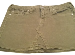True Religion Mini Skirt Green