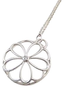 Tiffany & Co. Silver Flower Pendant Necklace