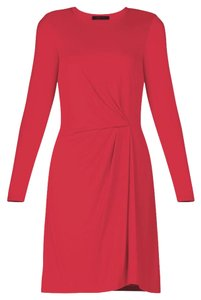 BCBGMAXAZRIA Longsleeve Shift Pleated Easy Dress