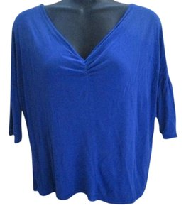 Charlotte Russe Open Back Crochet Royal Top Blue