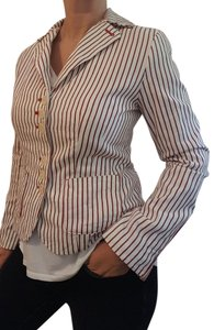 Libertine for Target Nautical Stripe Steampunk Red and White Blazer