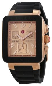 Michele NWT Michele Park Jelly Bean Rose Gold Tone watch