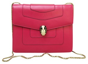BVLGARI Serpenti Calfskin Shoulder Bag
