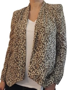Free Hug Print Light Animal Blazer