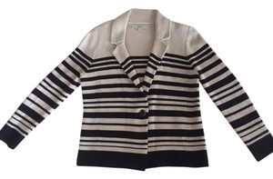Ann Taylor LOFT Khaki and Black Stripes Blazer