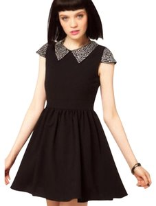 Sister Jane Studded Backless Skater Edgy Flirty Dress