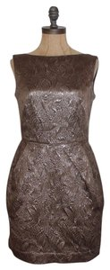 Banana Republic Brocade Sheath Metallic Dress