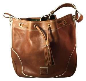 Dooney & Bourke Hobo Tote in Tan Leather