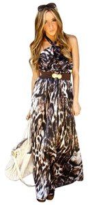 MULTI COLOR Maxi Dress by H&M Halter Maxi Animal Print