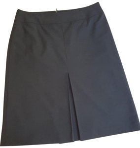 Ann Taylor Business Classic Basic Clean Knee-high Skirt black