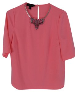 Ted Baker Embellished Stylish Statement Top Bubble Gum Pink
