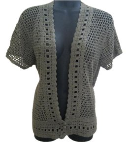 Michael Kors Army Crocheted Sweater Cardigan