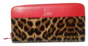 Christian Louboutin Red/Leopard Clutch