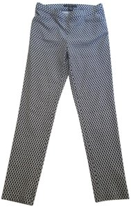 89th & Madison Pull-on Ankle Pencil Straight Pants Blue White