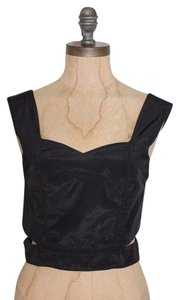 Keepsake the Label Crop Cut-out Top BLACK