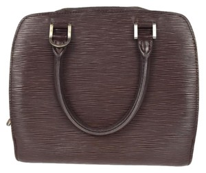 Louis Vuitton Pont Neuf Epi Leather Brown Satchel