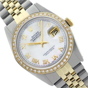 Rolex Preowned Datejust Mother of Pearl Diamond Mens Watch 36mm 16013