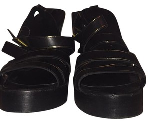 Pedro Garcia Black with gold trim Platforms