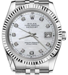 Rolex Women's 26mm Datejust White MOP Mother of Pearl Diamond Dial Watch