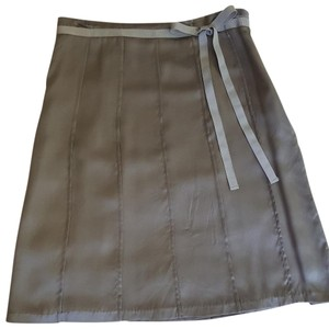 Mossimo Supply Co. Silk A-line Skirt Silver