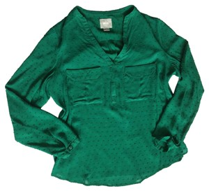 Anthropologie Top Dark green