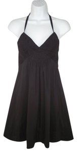 BCBGMAXAZRIA short dress Mini Halter Poplin Cotton Ruched on Tradesy
