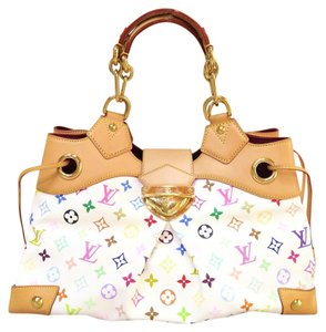 Louis Vuitton Lv Multicolor Ursula Canvas Tote in white