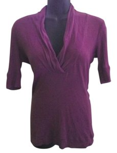 Express Knit Stretchy Casual Top Purple