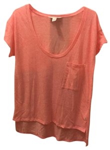 Victoria's Secret Vsc Loose Fit Relaxed Fit Scoop Neck Gym T Shirt Heathered Coral