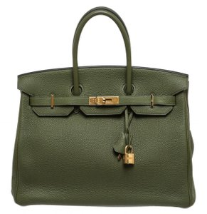 Herms Tote in Green
