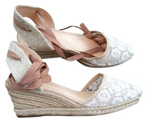 SCHUTZ Jute Espadrille Brown Tan Almond Wedges