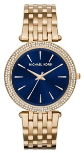 Michael Kors Darci Glitz Gold-Tone Navy Dial Ladies Watch 39mm MK3406