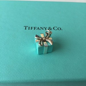 Tiffany & Co. Tiffany & Co. Silver Blue Enamel Gift Present Charm POUCH!