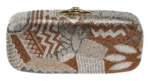Judith Leiber Gold/Multicolor Clutch
