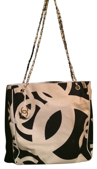 Item - Black/White Black and White Canvas Tote
