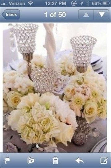 Crystal Bling Candleabras' Centerpiece