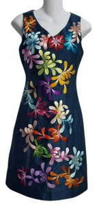 Wahine Couture Honolulu Silk Embroidered Dress