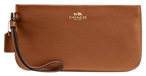 Coach Large Wristlet in Saddle