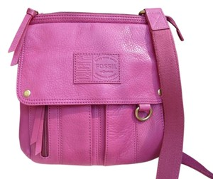 Fossil Pebbled Leather Cross Body Bag