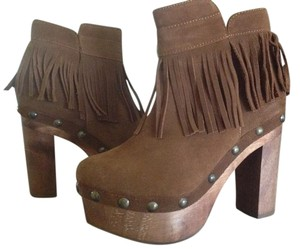 Cordani Platform Clog Ankle Suede Five Worlds Honey Boots