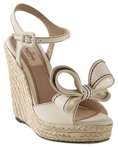 Valentino Cream & Black Wedges