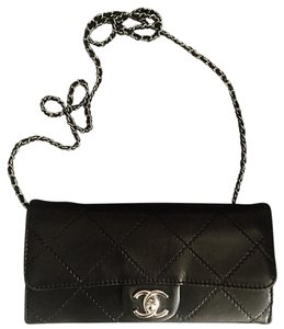 Chanel East West Woc Black Clutch